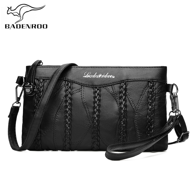 Badenroo Genuine Sheepskin Leather Women's Bag Clutch Shoulder Messenger Bags Casual Female Crossbody Bags Embrayage Sac Bolsas