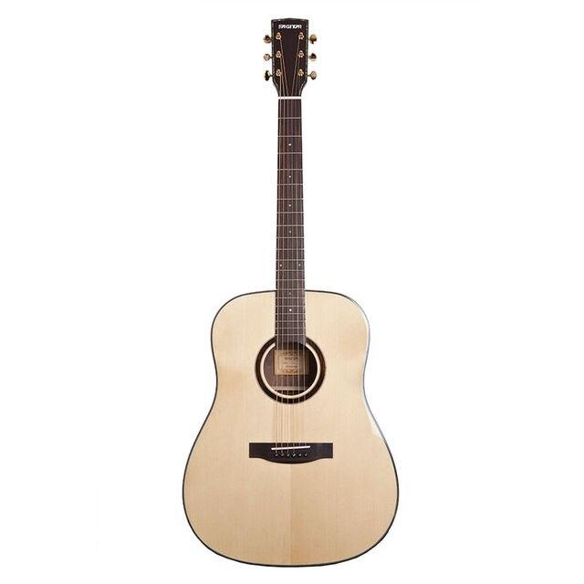 Cheap 41 inch Wood acoustic / folk guitar full Veneer guitar rounded-corner Picea Asperata & Rosewood material pickup-added