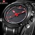 Relógios homens esporte marca naviforce completa aço led relógio digital militar do exército relógio de pulso reloj hombre relogio masculino 9050