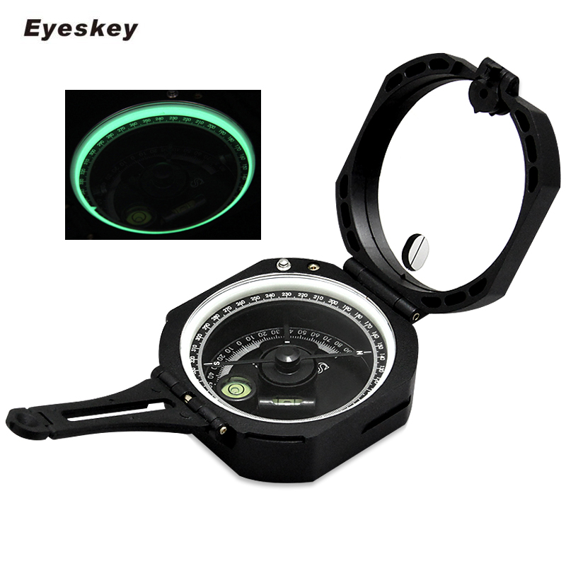 New Transit Lensatic Sighting Compass Waterproof for Hiking Camping Marching Hot