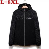 2018 גודל גדול 8XL7XL מזדמנים אופנה חמה למכור באיכות מעיל גברים מעיל חורף מעיל בתוספת גודל סיטונאי בגדי כותנה מרופדת