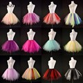 Colorful Petticoats Tulle Underskirt Short Girls Hoepelrok Puffy Dancing Enaguas Novia Adult Tutu Skirt
