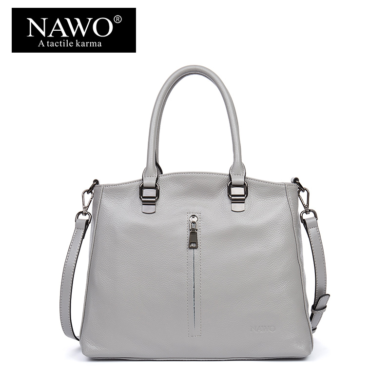 NAWO Women Leather Handbags Zipper Soft Shoulder Crossbody Bags Female Designer Women Top-handle Bags Ladies Evening Sac A Main 2017 famous brand large soft leather bag women handbags ladies crossbody bags female big tote green top handle bags sac a main
