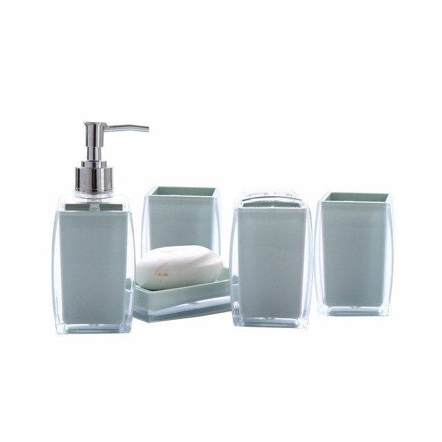 crystal acrylic elegant soap dish dispenser shampoo bottle toothbrush holders box storage organizer bathroom accessories set