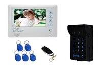 7 inch LCD Display 600TVL Password/ ID Card/Wireless Remote Control Video Door Phone