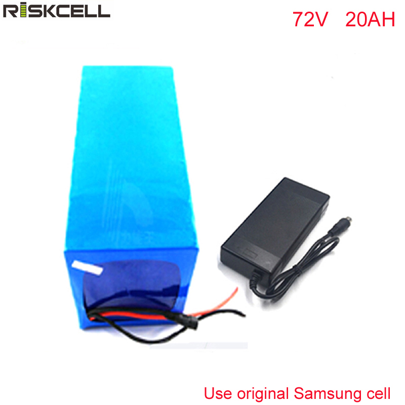 72v 20ah e-motorcycle lithium battery pack electric bicycle lithium battery pack For Samsung cell