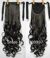Леди в хвост шиньоны синтетический волос длинная волнистый лента хвост наращивание волос естественный чёрный