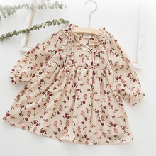 2019 New Spring Autumn Kids Dresses For Girls Love Flower Print Princess Dress For Girl Cotton Birthday Party Kids Dress Clothes цена