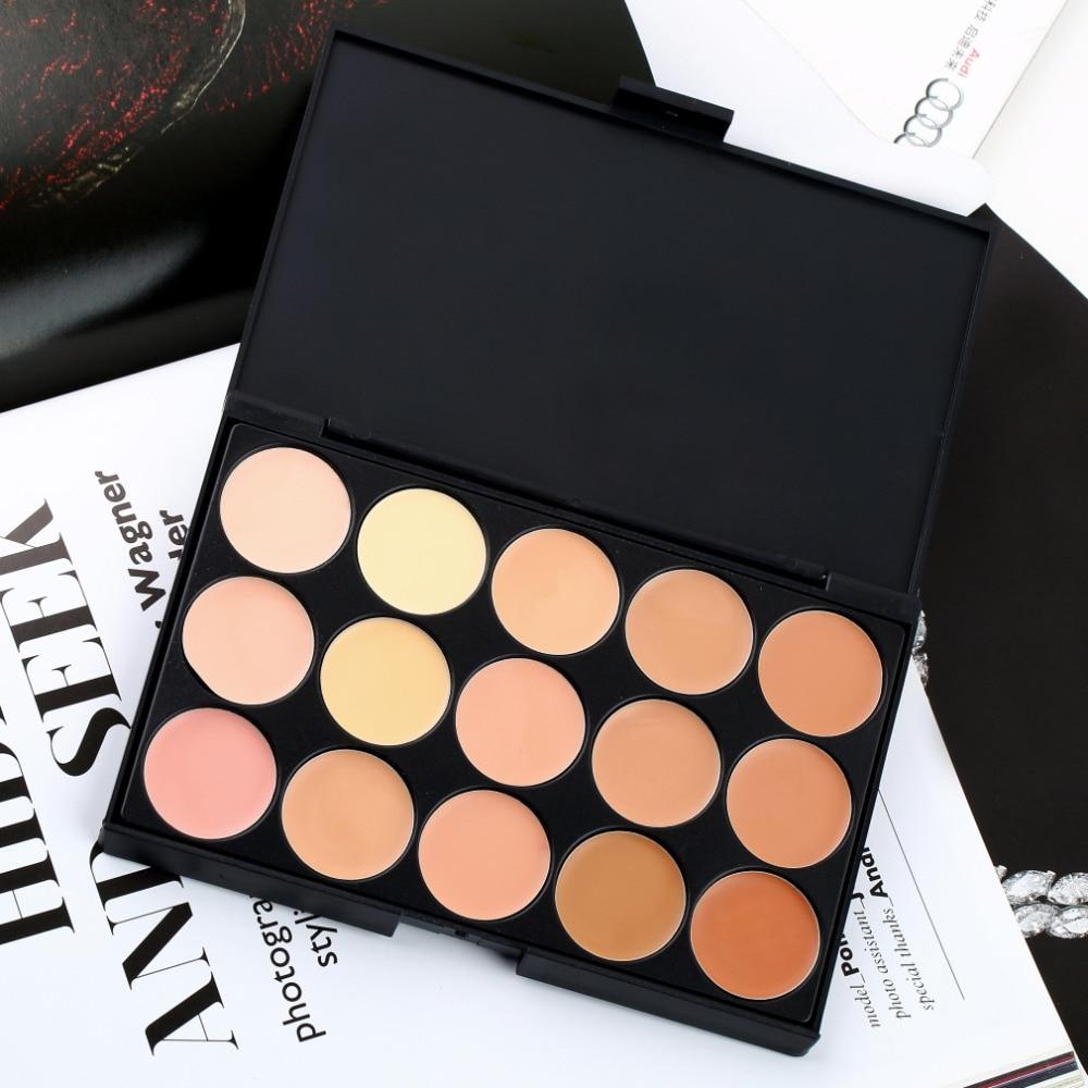Professional 15 Color Facial Concealer Contour Camouflage Palette Facial Care Corrector Makeup