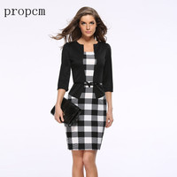 2016 New Fashion Women Autumn Dress Suit Elegant Business Work Suits Blazer Formal Office Suits Tunics