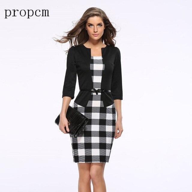 2017 New Fashion Women Autumn Dress Suit Elegant Business Work Formal Office  Tunics Party Evening Black f6429fb75e8f