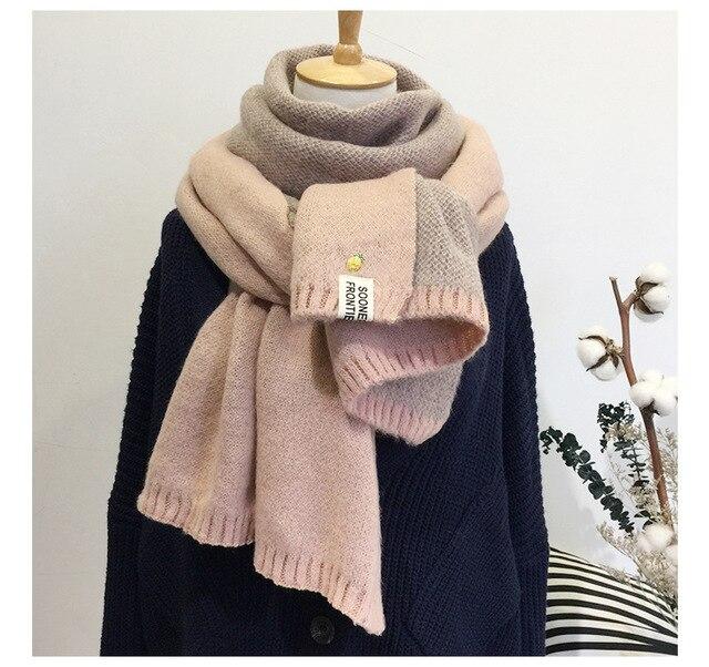 2017 Новый женский шарф милый зимний шерстяной вязаный шарф теплый мягкий двойной уход за кожей лица Bufandas Cachecol хлопок шарфы для женщин для мужчин