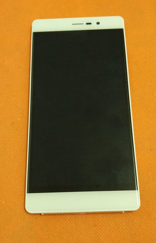 "imágenes para Usado Original de la pantalla Táctil + LCD display + Marco para UMI MT6735 Justo 4G LTE Quad Core 5.0 ""HD 1280x720 envío libre"