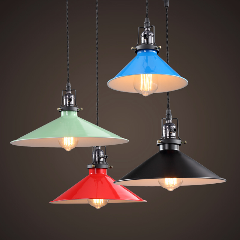 28CM Edison Vintage Retro Metal Loft Pendant Lights American E27 Socket Pendant Lamp Bar Cafe Shop Club Dining Room Restaurant vintage pendant lights industrial loft american retro lamps creative restaurant dining room lamp bar counter incandescent bulb