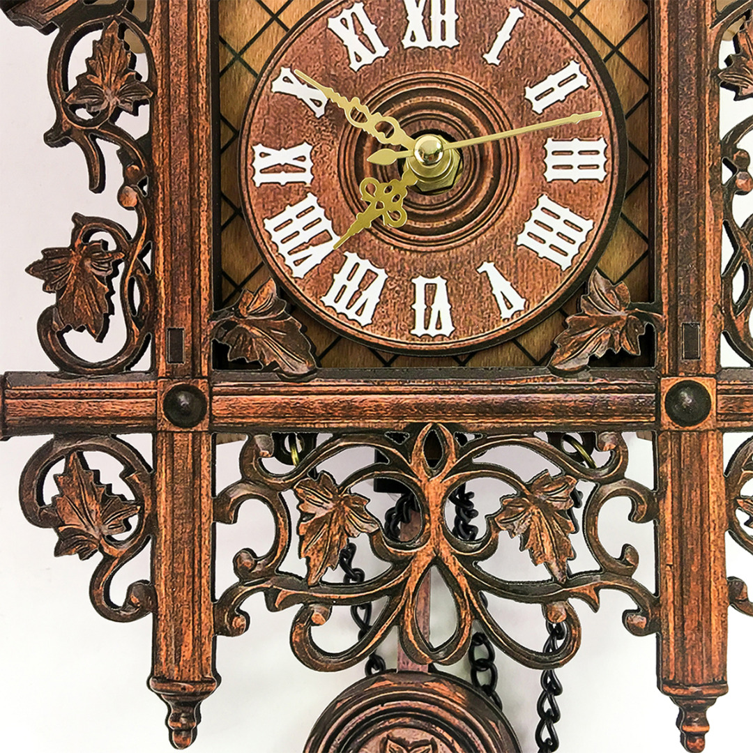 1pc Retro Vintage Wall Clock Hanging Handcraft Wooden Cuckoo Clock House Style Wall Clocks for Living Room Home Decoration