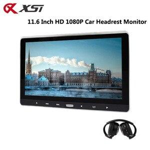 Image 1 - XST 11.6 インチ車ヘッドレスト Dvd プレーヤーモニタータッチボタンサポートビデオ HD 1080 p/USB/SD/ IR/Fm トランスミッター/HDMI/スピーカー/ゲーム