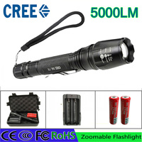 Z30 LED Flashlights Torch 5000 Lumen CREE XM L T6 Zoomable Led Torch For 2x18650 Batteries