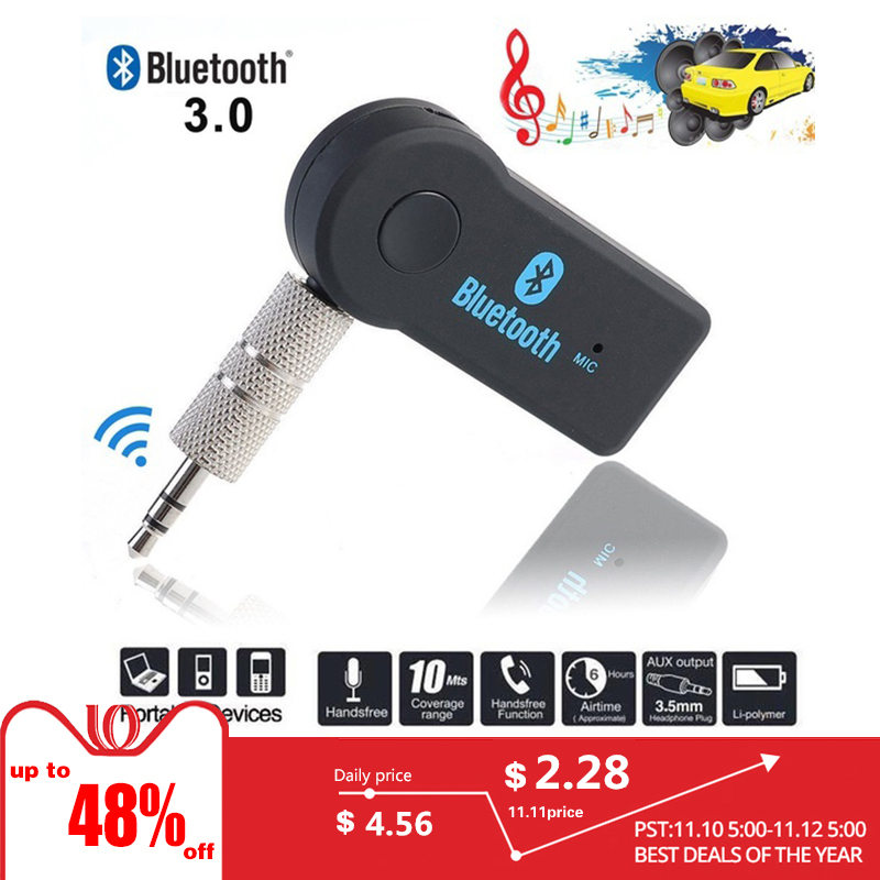 Wireless USB Bluetooth Stereo Audio Music Receiver Adapter For Car Home Speaker bluetooth dongle usb bluetooth adapter mz 301 usb wireless bluetooth audio music receiver adapter dongle with 3 5mm audio cable for phone pc psp