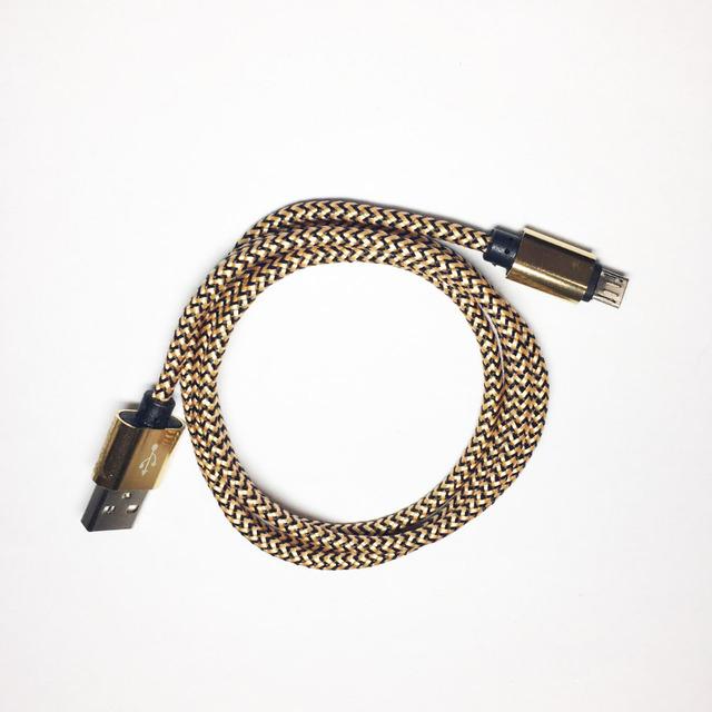 Nylon pleciony mini micro usb cable mini ładowarka usb do telefonów komórkowych dla samsung galaxy s7/s6/s5/edge, uwaga 5/4/3, htc, lg, sony