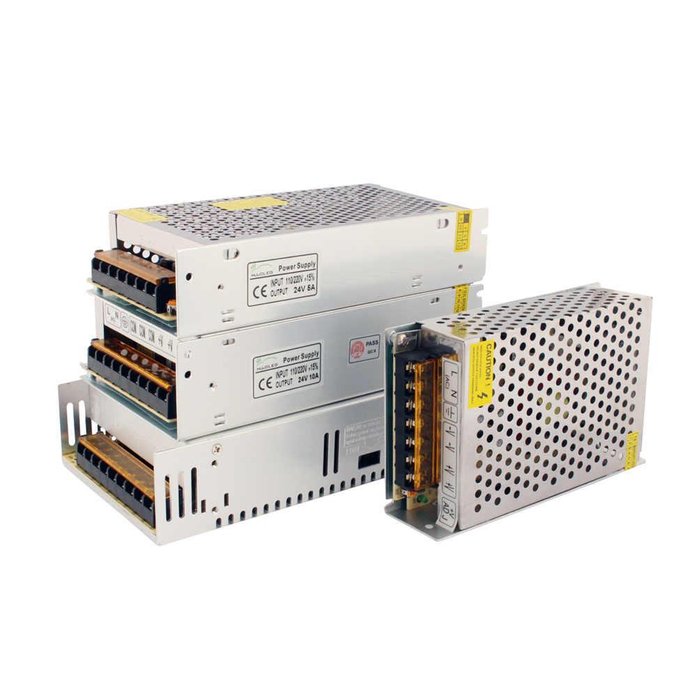 24 В блок питания 12 Вольт 24 В 5A 10A 20A 24 трансформатор напряжения 220 в 12 В блок питания 50A 60A Светодиодный драйвер для светодиодной ленты