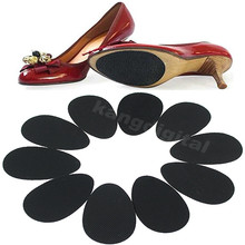 2018 Hot Sale New Fashion 5 Pairs Women Rubber Anti-Slip Shoes Heel Sole Grip Protector Pads Non-Slip Cushion Accessories Black(China)