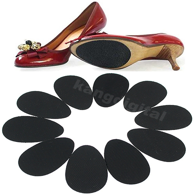 2018 Hot Sale New Fashion 5 Pairs Women Rubber Anti-Slip Shoes Heel Sole Grip Protector Pads Non-Slip Cushion Accessories Black