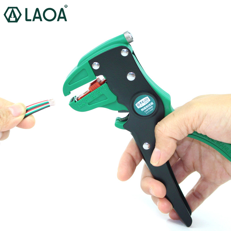 LAOA Automatic Wire Stripper Universal Duckbill Electric Wires Stripping Pliers Cable Crimper Strippers Tools Made In Taiwan automatic cable wire stripper stripping crimper crimping plier cutter tool diagonal cutting pliers peeled pliers