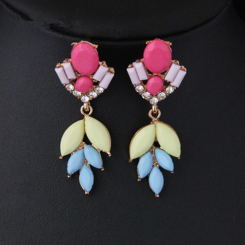 dd0c72723b6b Cirgen moda encanto Pendientes Cristal Arco Iris colorido resina dangle  declaración pendiente para las mujeres joyas artículo