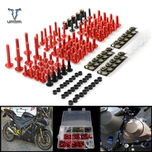 CNC Universal Motorcycle Fairing/windshield Bolts Screws set For Ducati  monster m620  monster m750/m750ie st4 st4s ABS