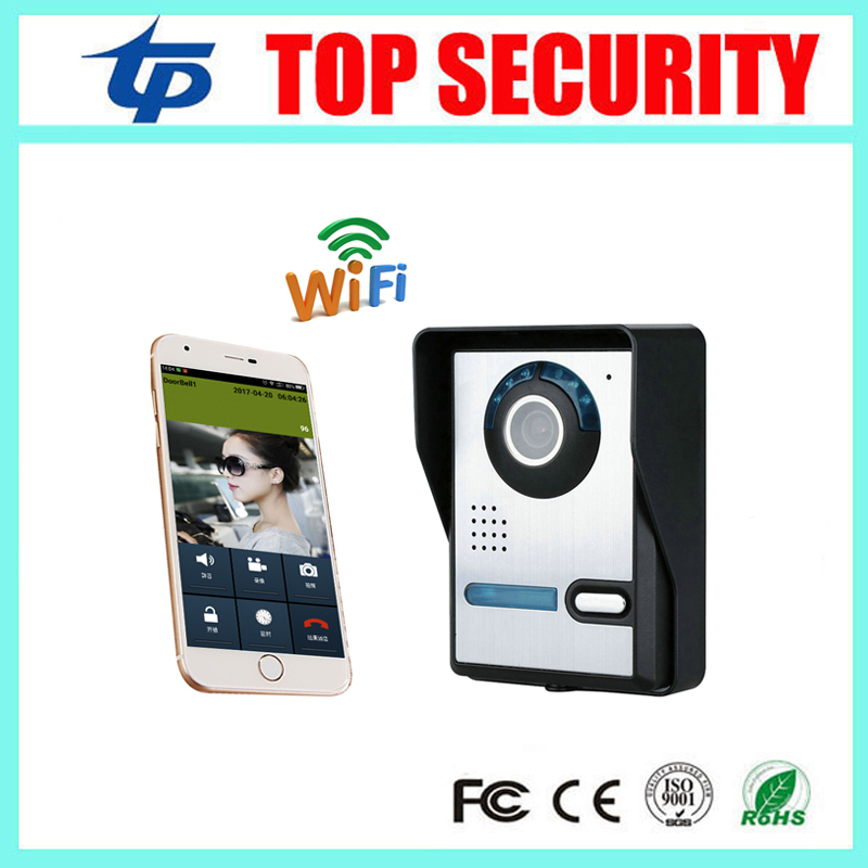Free shipping mobile WIFI video door phone video intercom system wireless door control wireless remote control video door phone стоимость