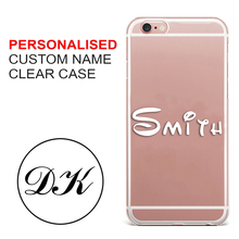 Personalised Handwritten Name Clear hard phone case cover for Samsung s8 s9plus S6 S7E for iPhone 7 6s 8plus 5s 5c X XS XR XSMAX customized diy phone case printed hard clear cover case for apple iphone x xs 8 8plus 7 6splus se 5 for samsung s8 s8plus s7 s6