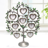 European Happy tree photo frame Picture for 8 smalls picture frame vintage Alloy lovely baby photo frame for Home Decor XC060