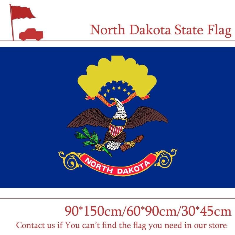 North Dakota State Flag 35ft90150cm 6090cm Flag 3045cm Car Flag