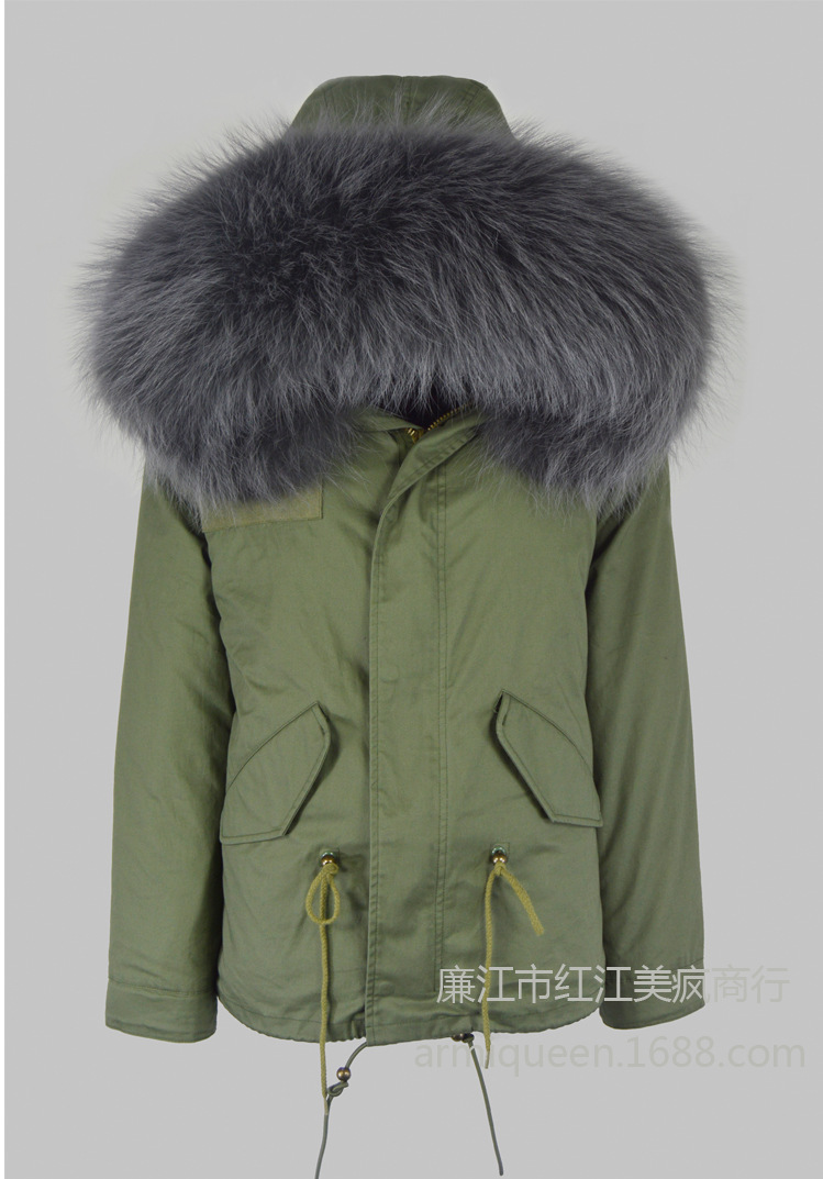 2017 Brand Long Winter Jacket Women Parka Natural Raccoon Fur Collar Hooded Thick Warm Coats Real Rabbit Fur Coat Womens Jackets winter parka coat 2017 new women raccoon fur collar rabbit fur parka liner female long section warm thick outwear qw631