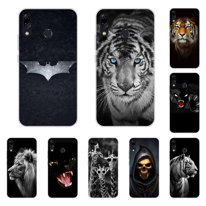 Asus Zenfone 5 ZE620KL Case,Silicon Fierce animals Painting Soft TPU Back Cover for Asus Zenfone 5Z ZS620KL Phone bags