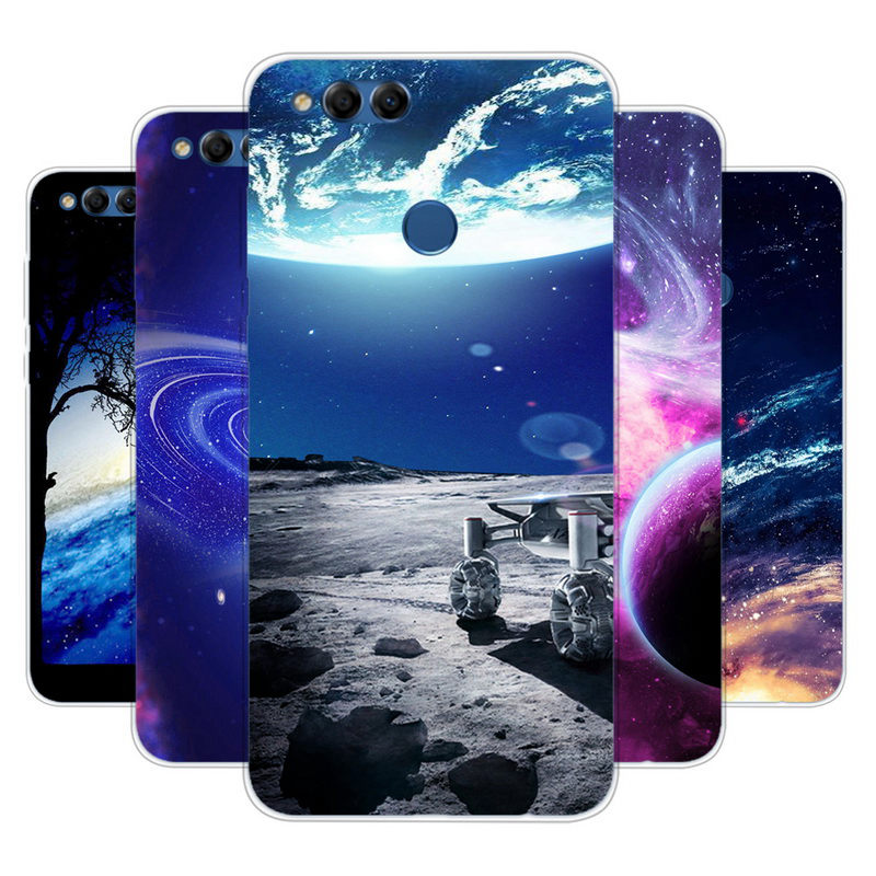 <font><b>Honor</b></font> <font><b>7x</b></font> bnd-l21 Mobile Phones Cases Silicone TPU Soft Cover For Huawei <font><b>Honor</b></font> <font><b>7x</b></font> 32gb <font><b>64gb</b></font> 5.93 Case Star Space Skin Funda ky103 image