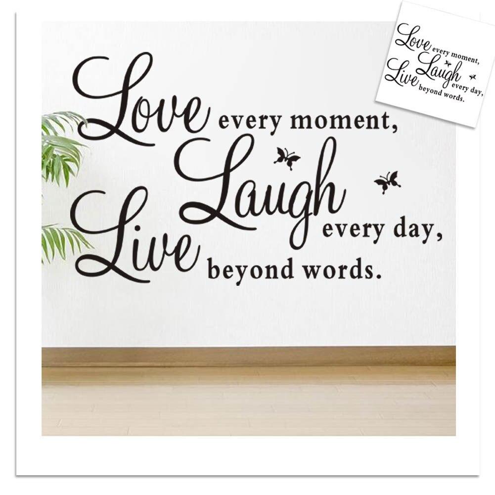 Live Love Schmetterling Sprche Englisch Satz Wandaufkleber Abnehmbare Wasserdichte Kunst Poster Startseite Dekora