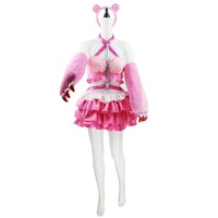 Anime Super Sonic Pink Cosplay Dress Super Sonico Cosplay Costume