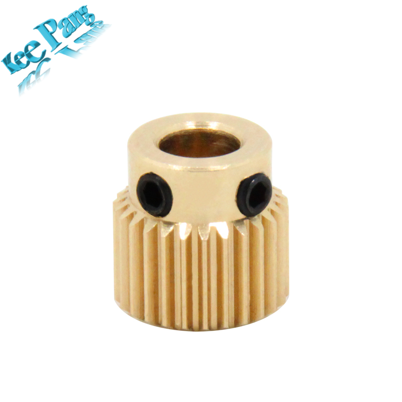 Copper Extrusion Head Gear 26 Tooth Bore 5mm 3D Printers Accessories Parts Diameter 11mm For MK8 Extruder Part 26Teeth Brass quality goods gear micrometers measuring head diameter 4 5mm f0708