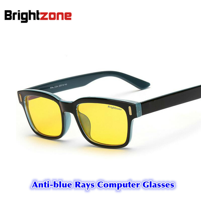 2017 Eyewear Glassess Anti-Glare Anti-UV Anti Blue Stråler Gaming Daturglass Briller Øyestrømmen Anti-Fatigue