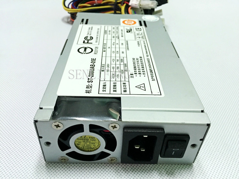 Free Shipping Server Power ST-200UAB-05E Silent Power 200W Power 100% Tested Working