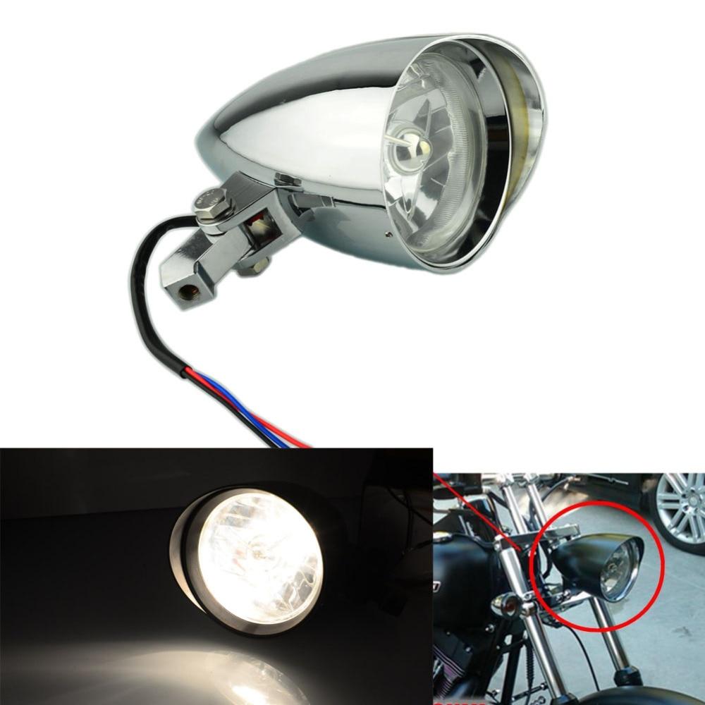 Chrome Polish Headlight Lamp Clear Lens For Harley Sportster Bobber Chopper