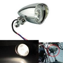 New Chrome  Motorcycle Aluminum Bullet Headlight Lamp For Harley Sportster XL Dyna Softail FXR FXST Chopper Bobber Custom