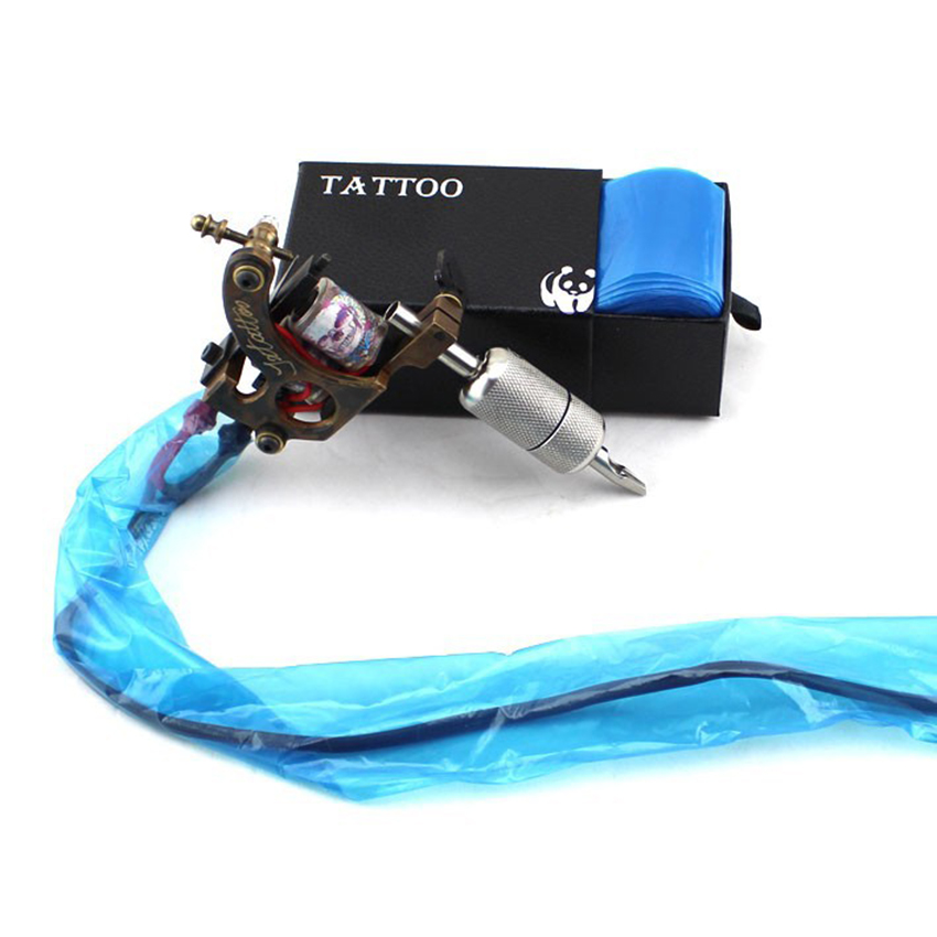 100pcs plastic blue tattoo clip cord sleeves covers bags for Supplies for tattooing