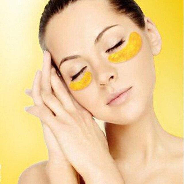 60Pcs=30Packs Gold Crystal Collagen Eye Mask Sleeping Eye Patch Eliminates Dark Circles And Fine Lines Eye Mask Anti-Aging Skin Care