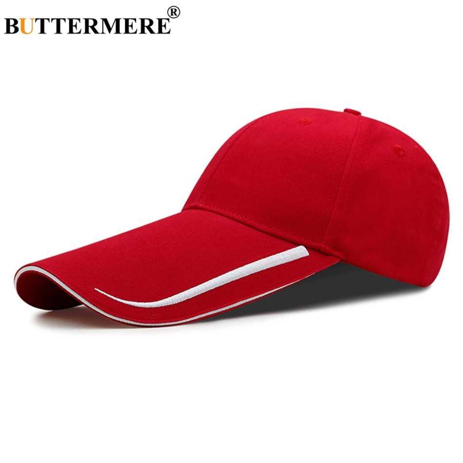 477f70bc231e0c Buttermere Mens Baseball Cap Women Summer Sun Protection Hat Long Brim 14cm  Red Female Male Adjustable