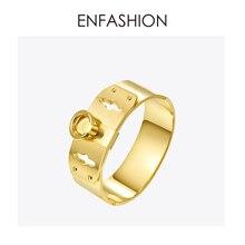 506bc2846 Enfashion مجوهرات دائرة حلقة واسعة صفعة سوار Noeud شارة الذهب اللون الإسورة  سوار للنساء أساور طويق أساور