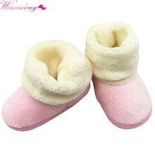 cd02f3099d6 Otoño Invierno niños bebé niños niñas suave de peluche de felpa lindo  botitas de bebé antideslizante