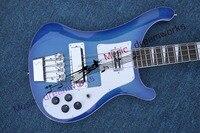 China firehawk OEM shop Electric bass Guitar Rick 4 Strings Electric BASS Blue bass guitar