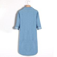 Causal Women Denim Shirt Dress Summer Irregular shirt dress Long Sleeve Sexy Mini Dress Casual Loose Jean Dresses LJ1286E